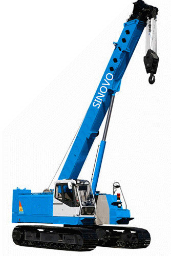 Energy saving Hydraulic Crawler Crane with 25 ton lifting capacity , ISO9001 approved
